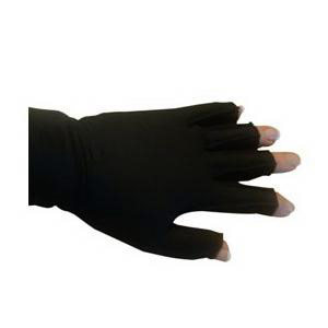 Mediven Harmony Compression Glove with Fingers, Size 5, Black