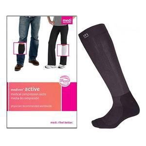 Mediven Active Standard Calf High Compression Stocking, Close Toe, Size 5