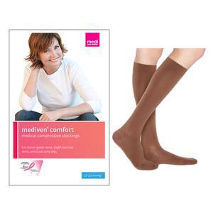 Mediven Comfort Calf High Compression Stocking, Size 1, Wheat