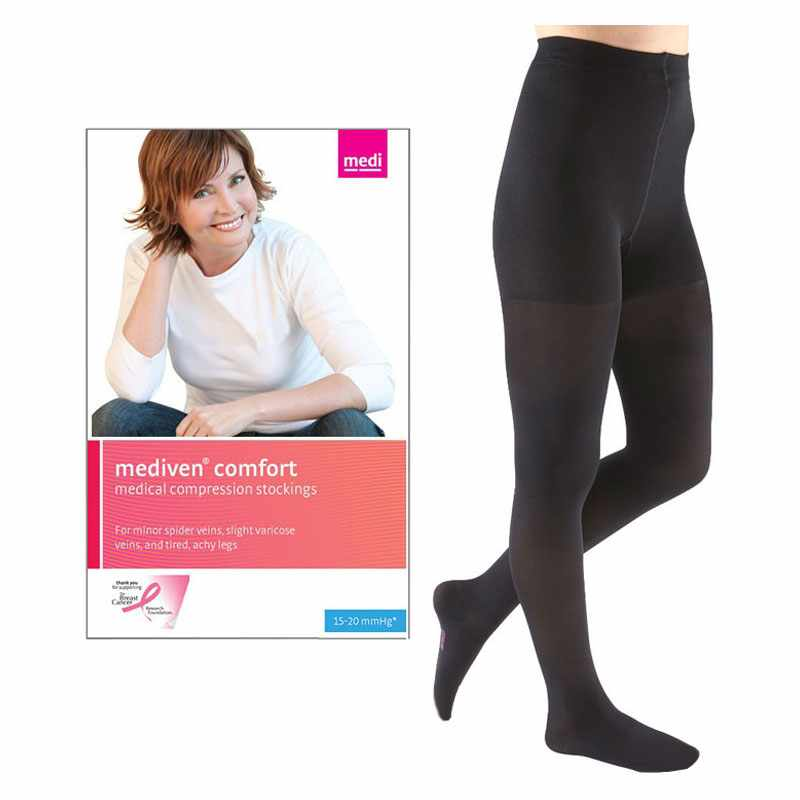 Mediven Comfort Pantyhose Compression Stocking, Closed Toe