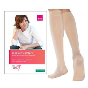 Mediven Comfort Knee High Compression Stockings, Closed Toe