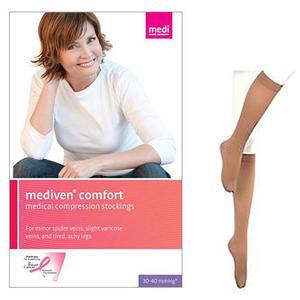 Mediven Comfort Calf Compression Stocking, Size 4, Natural