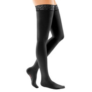 Mediven Comfort Thigh High Compression Stocking, Size 5, Petite, Ebony