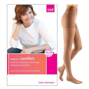 Mediven Comfort Compression Maternity Pantyhose, Size 2, Natural