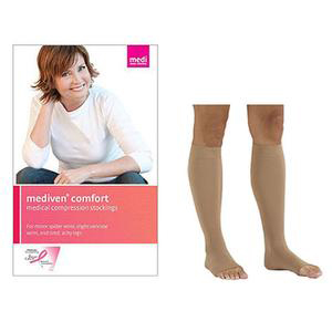 Mediven Comfort Calf High Compression Stocking, Size 4, Natural