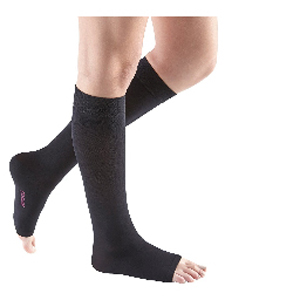 Mediven Comfort Calf High Compression Stocking, X-Wide, Size 3, Ebony