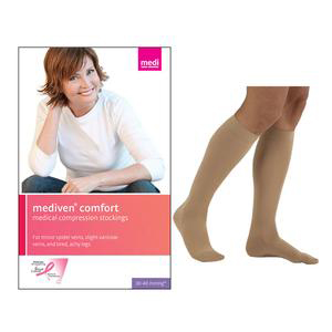 Mediven Comfort Calf High Compression Stocking, Size 3, Natural