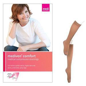 Mediven Comfort Calf Compression Stocking, X- Wide, Size 4, Natural
