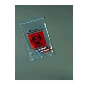 """Medegen Lab Safe Specimen Transport Bag with Ziplock, 9"""" x 12"""""""