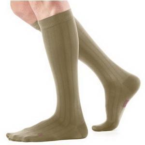 Mediven Men's Calf High Compression Socks, Size 4, Khaki