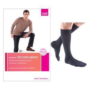 Mediven Men Classic Calf High Compression Stocking, Size 4, Navy