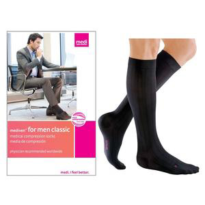 Mediven Men Classic Calf High Compression Stocking, Size 5, Black