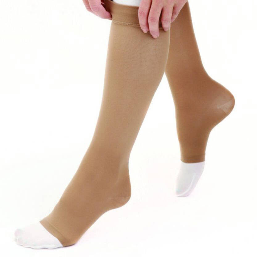 Mediven Dual Layer Knee High Stocking System, Large, Beige