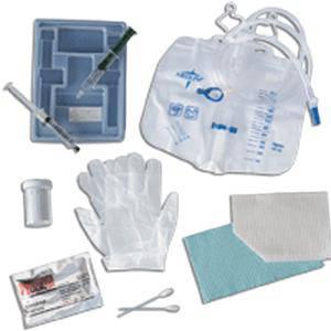 Medline Silicone-Elastomer Coated Closed System Foley Catheter Tray 18 Fr 10 cc