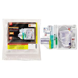 Medline Silicone Temperature-Sensing 2-Way Foley Catheter Tray, 18 Fr