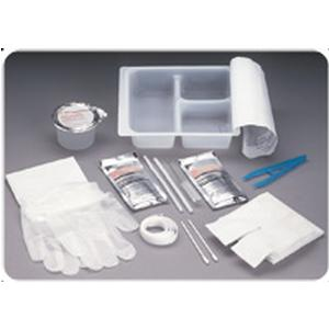 Medline Tracheostomy Care Tray with Peroxide and Saline, Latex-free