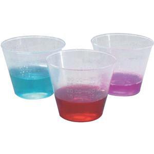 Medline Graduated Plastic Disposable Medicine Cup, 2 oz, Translucent