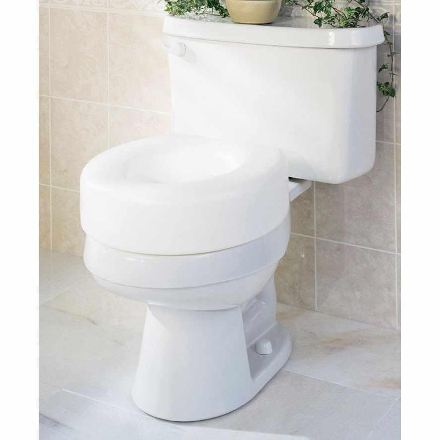 Medline Guardian Economy Raised Toilet Seat, 250 lb