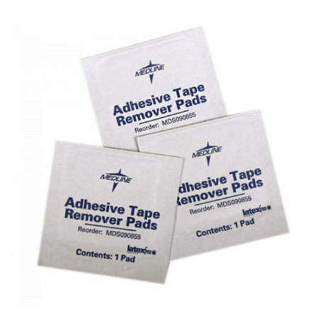 Medline Adhesive Remover Pad, 1-1/4 X 1-1/2 Inch