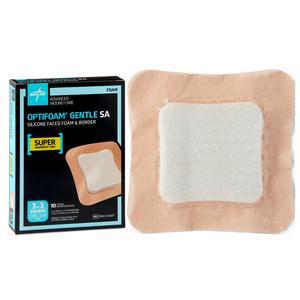 Medline Optifoam Gentle Silicone-Faced Foam Dressing, 3 x 3 Inch