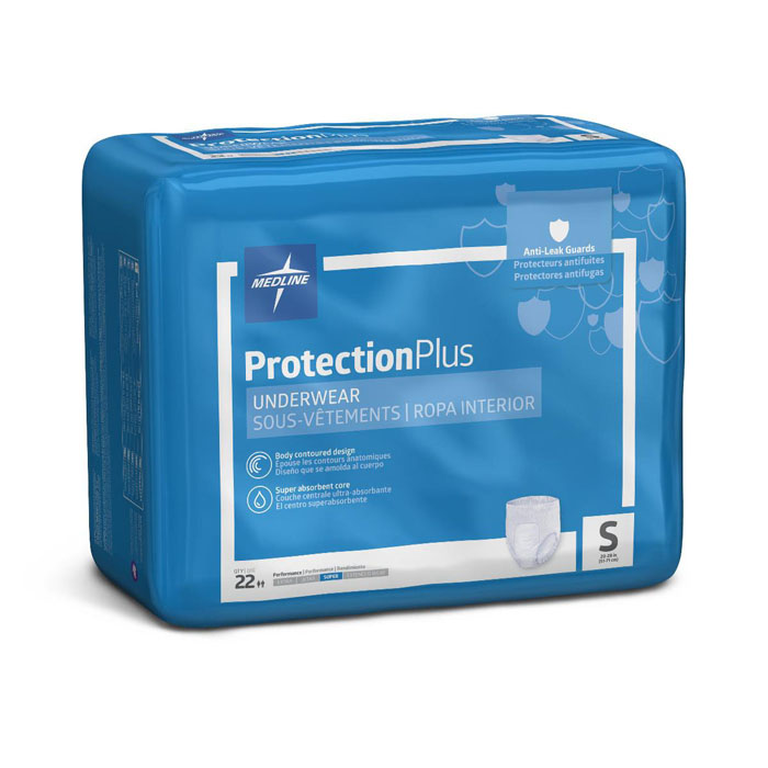 "Protection Plus Super Protective Underwear, 20"" to 28"", Small, Pull-up - 22/package"
