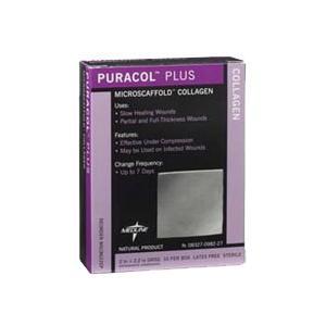 Medline Puracol Plus Collagen Wound Dressing, 2 X 2.25 Inch