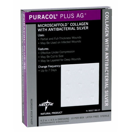Puracol Plus Ag Collagen Dressing with Antimicrobial Silver
