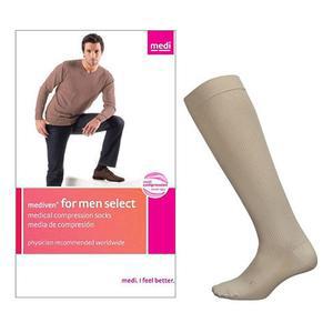 Mediven Select Men Calf High Compression Socks, Size 5, Tan