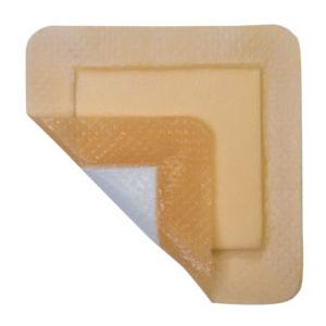"MediPlus Silicone Comfort Foam Adhesive Border 4"" x 4"""