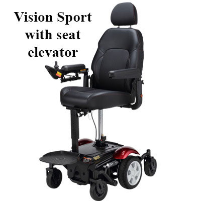 Merits vision sport with power seat elevator option