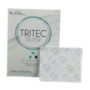 """Milliken tritec silver antimicrobial wound dressing 4"""" x 5"""""""