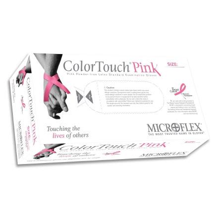 Microflex ColorTouch NonSterile Powder Free Latex Exam Glove, Small