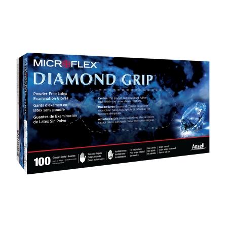 Microflex Diamond Grip NonSterile Powder Free Latex Exam Glove, Large