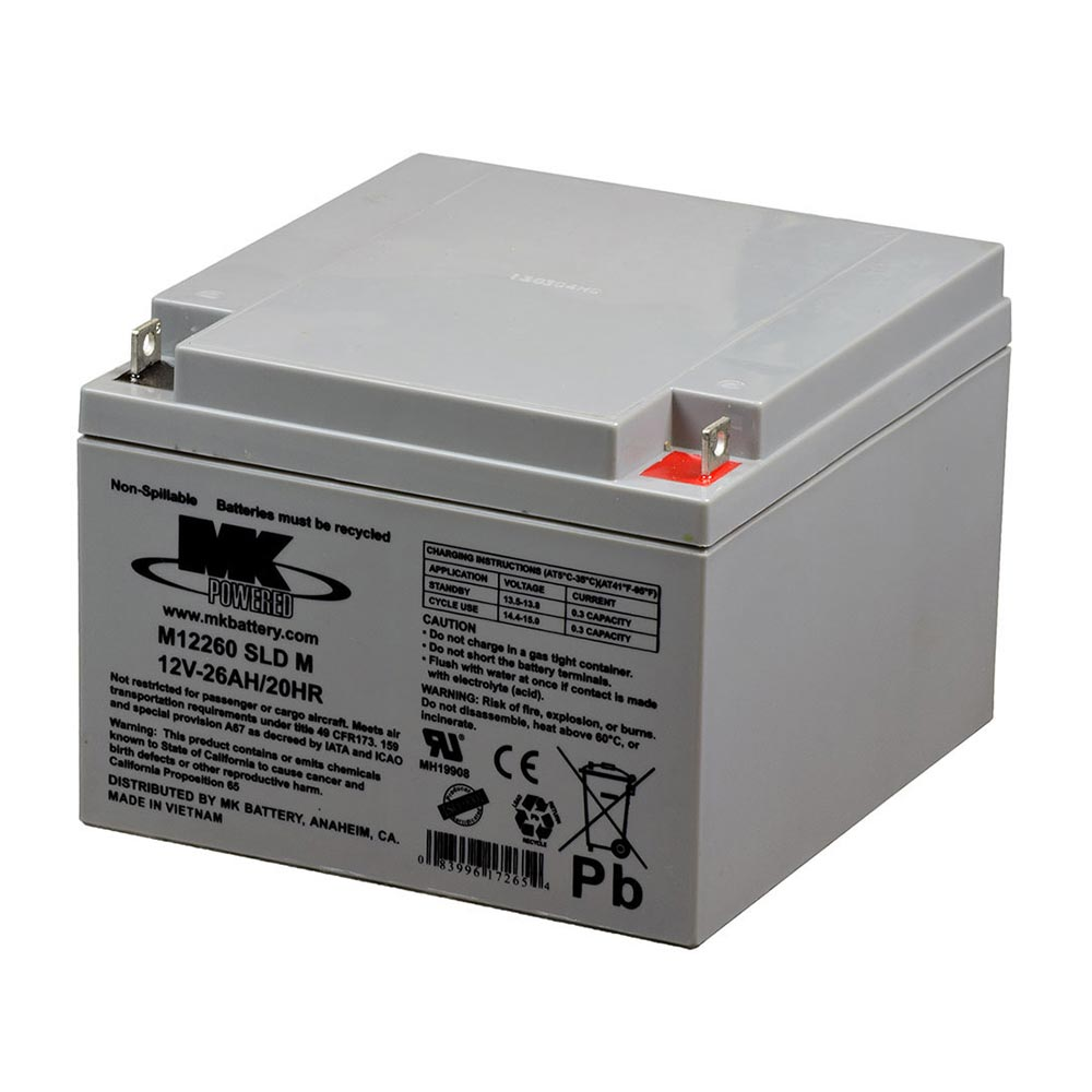 M12260 SLD M Sealed AGM Battery by MK Battery
