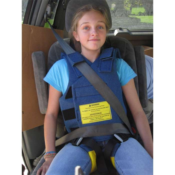 Chamberlain positioning system for car seat