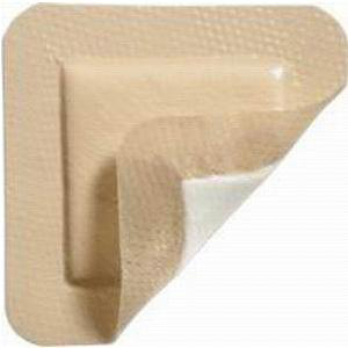 "Molnlycke Mepilex Lite Self-Adherent Soft Silicone Thin Foam Dressing, 4"" x 4"""