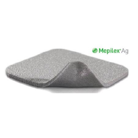 """Molnlycke mepilex Ag antimicrobial foam dressing 4"""" x 5"""", silver"""