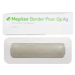 Molnlycke Mepilex Border Post Op Ag Foam Dressing, Tan