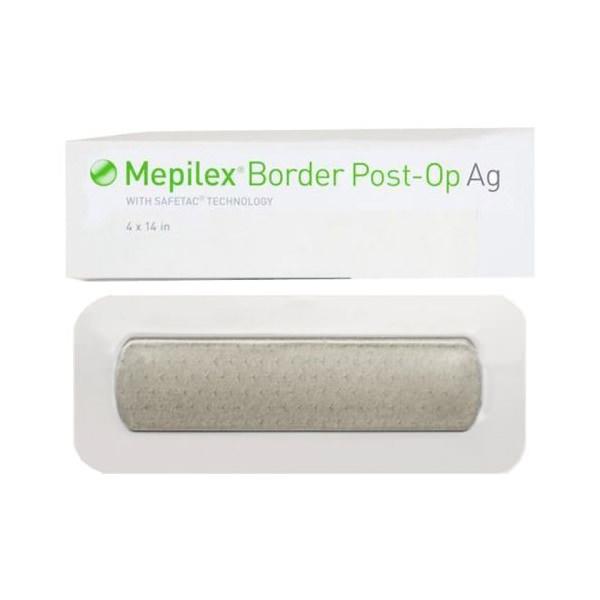 Molnlycke Mepilex Border Post Op Ag Foam Dressing, 4 x 14 Inch, Tan