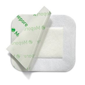 """Molnlycke Mepore Self-Adhesive Absorbent Island Dressing, 3-3/5"""" x 6"""""""