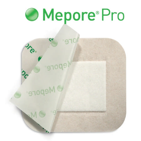 "Molnlycke Mepore Pro Self-Adhesive Absorbent Dressing, 3-3/5"" x 6"""