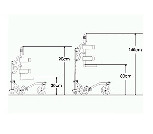 Buddy roamer posterior walking aid - specification