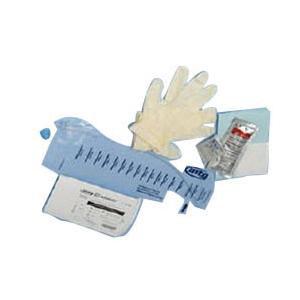 MTG Closed System Firm Intermittent Catheter Kit, 14Fr Catheter, BZK Wipe, Sterile Latex-free