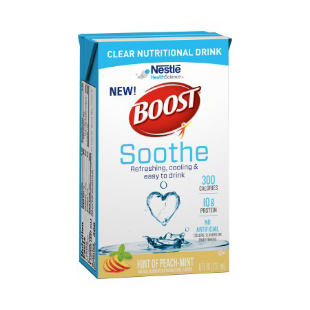 Boost Soothe Oral Supplement, Peach Mint, 8 oz. Carton