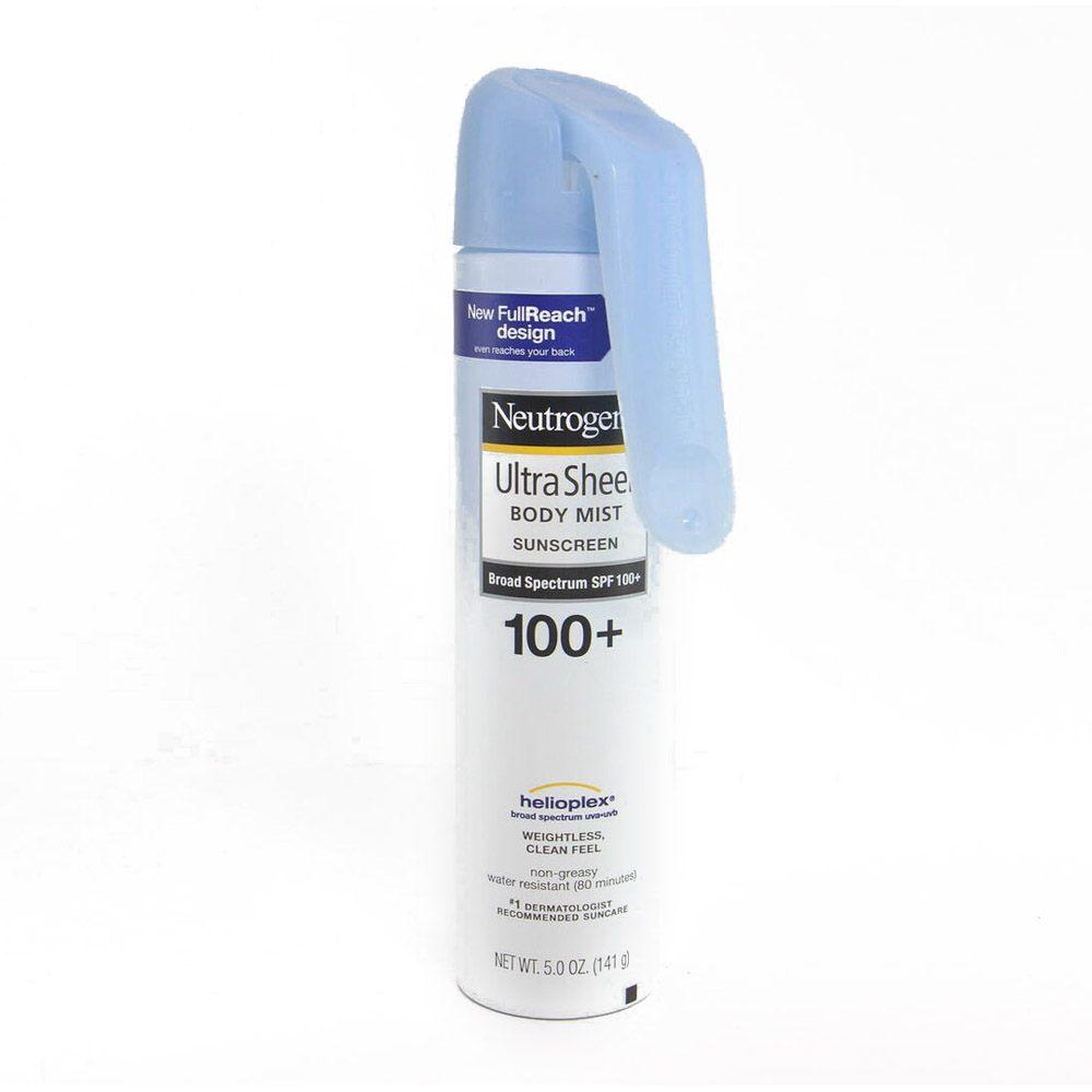 Neutrogena Ultra Sheer Body Sunscreen Mist, Sunblock, SPF 100+, 5 oz