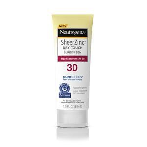 Neutrogena Sheer Zinc Sunscreen Lotion, SPF 30, 3 oz