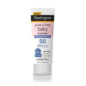 Neutrogena Pure & Free Baby Sunscreen Lotion, SPF 50, 3 oz