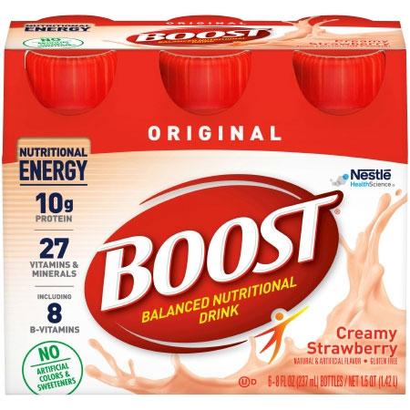 Nestle Boost Original Creamy Strawberry Flavor Oral Supplement, 8 oz.
