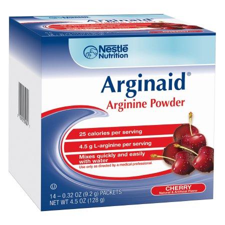Nestle Arginaid Cherry Flavor Arginine Supplement Powder, .32 oz.