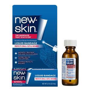 New-Skin Antiseptic Liquid Bandage, Waterproof, 0.3 oz.